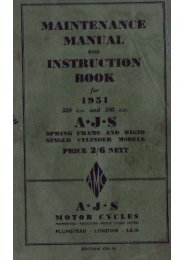 AJS 1951 maint - AJS and Matchless Archives