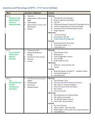 Anatomy and Physiology (ANPY) – CTY Course Syllabus