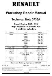 Workshop Repair Manual - MatraSport.dk