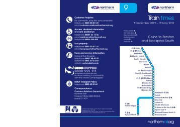 Northern Timetable 9 for web.indd - Northern Rail