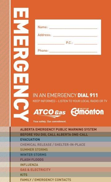 Emergency Guide - City of Edmonton