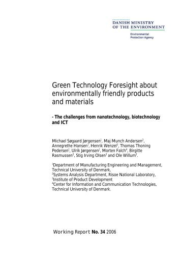 Green Technology Foresight about environmentally friendly products