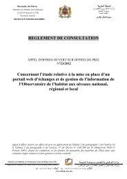 Royaume du Maroc - Ministère de l'Habitat, de l'urbanisme et de la ...