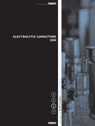 ELECTROLYTIC CAPACITORS 2008