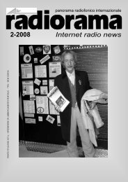 Internet radio news 2-2008 - Associazione Italiana Radioascolto