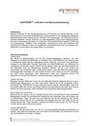 Gebrauchsanweisung Easyderm - gd medical AG