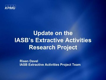 Update on the IASB's Extractive Activities Research ... - SAMCODE