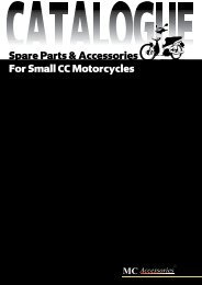 Spare Parts & Accessories For Small CCMotorcycles - Mc-acc.com