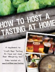 A supplement to 'Craft Beer Tasting At Home and ... - Craftbeer.com