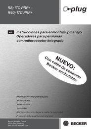 Instrucciones para el montaje y manejo - Becker-Automatismos