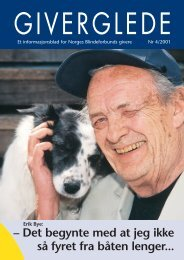 Giverglede 4/2001 - Norges Blindeforbund