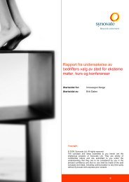 Synovate Report Template - Visithaugesund.no