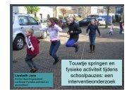 Liesbeth Jans - Touwtjespringen en fysieke activiteit tijdens ...