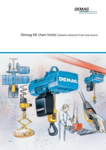 Demag DK chain hoists - Demag Cranes & Components