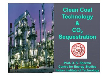 Clean Coal Technology & CO Sequestration - India Core Events
