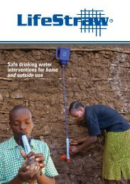 Safe drinking water interventions for home and outside use