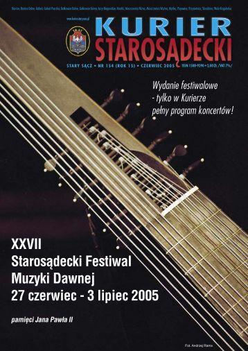 NR 154 CZERWIEC 2005 - Kurier Starosądecki