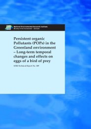 Persistent organic Pollutants (POPs) in the Greenland environment ...
