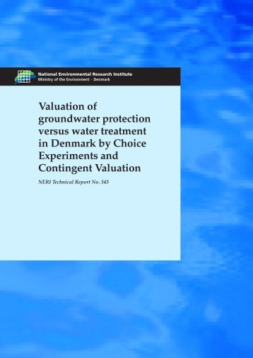 Valuation of groundwater protection versus water treatment in ...