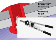 Nietwerkzeug MS 6 M - Titgemeyer