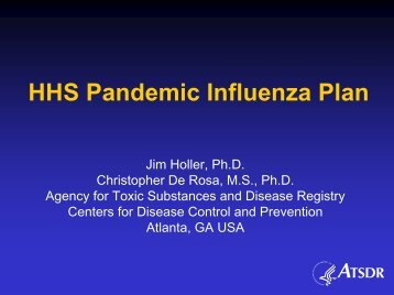 HHS Pandemic Influenza Plan