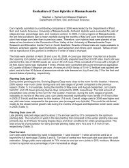 Massachusetts 2006 Corn Hybrid Evaluation - Umass Extension ...