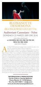 Scheda spettacolo - Circolo Cultura e Stampa Bellunese - Page 2