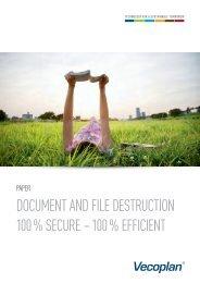 document and file destruction 100 % secure – 100 ... - Vecoplan AG