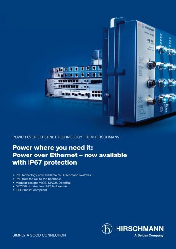 Power where you need it: Power over Ethernet – now ... - AlHof