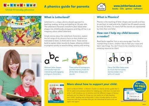 Parent's Guide Leaflet - Letterland