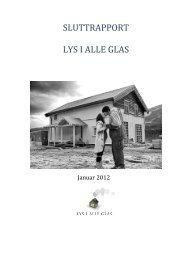 SLUTTRAPPORT LYS I ALLE GLAS - Regionrådet for Hallingdal