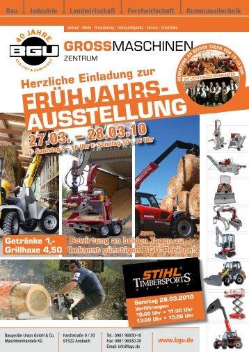 Frühjahrs- ausstellung - BGU Großmaschinen
