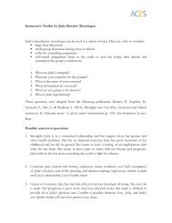 Instructor's Toolkit for Julia Morales' Monologue Julia's introductory ...
