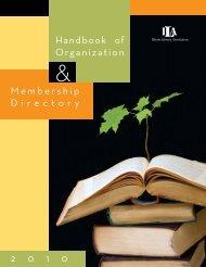 Handbook of Organization Membership Directory 2 0 1 0