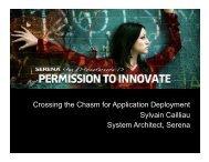 Dimensions - Serena Software