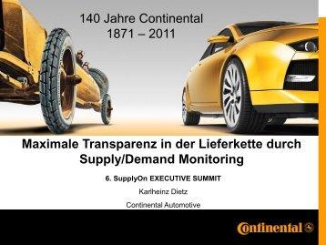 Supply Chain Monitoring - SupplyOn