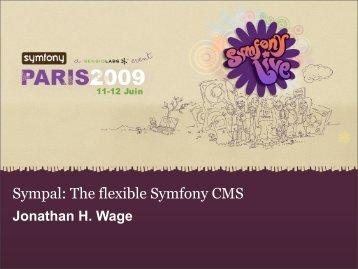 Sympal: The flexible Symfony CMS
