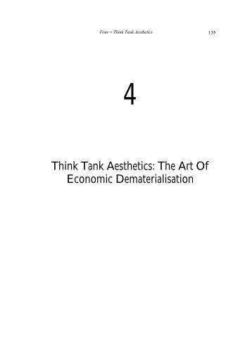 Think Tank Aesthetics: The Art Of Economic ... - Jaime Stapleton