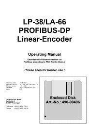 LP-38/LA-66 PROFIBUS-DP Linear-Encoder - TR Electronic