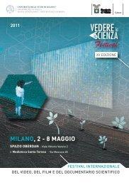 MILANO, 2 - 8 MAGGIO - Università degli Studi di Milano