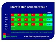 Start to Run schema week 1
