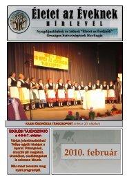"""2010. február - """"Életet az éveknek"""" Országos Szövetsége"""
