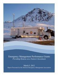 EMPG: ROI Report - Washington State Emergency Management ...