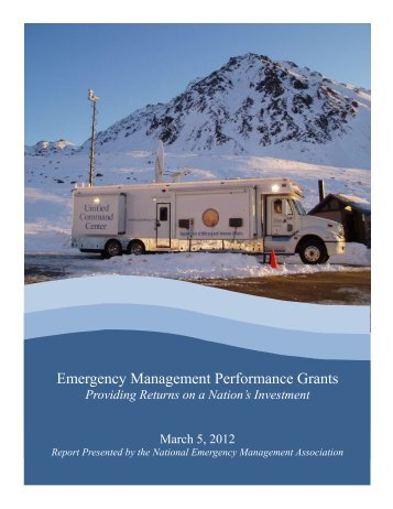 EMPG: ROI Report - Washington State Emergency Management ...