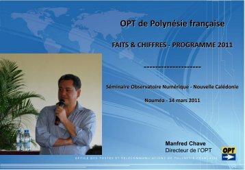 Manfred Chave - Observatoire Numérique de Nouvelle-Calédonie