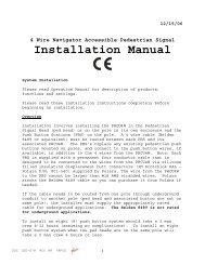 POLARA Navigator 4-Wire Installation Instructions - Temple, Inc.