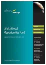 Alpha Global Opportunities Fund