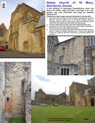 Abbey church of St Mary, Sherborne, Dorset. - Anglo-Saxon churches