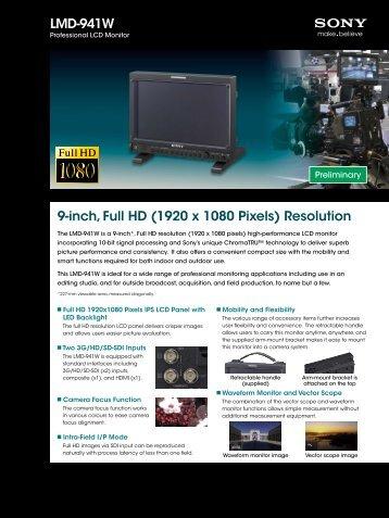 LMD-941W 9-inch, Full HD (1920 x 1080  Pixels ... - Video Data