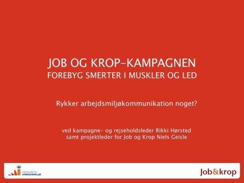 102: Job og Krop-kampagnen